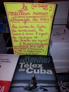 """""""Le télex de Cuba"""" de Rachel Kusnner éditions du Charche midi"""