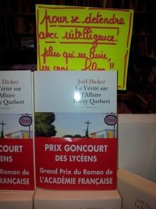 """""""la vérité sur l'affaire Harry Quebert"""" aux éditions de Fallois"""