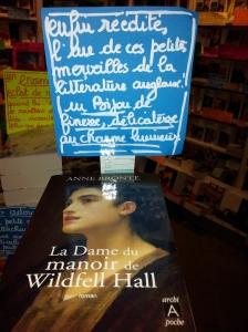 """""""La dame du manoire de Wildfell Hall"""" d'Anne Brönte éditions Archipel"""
