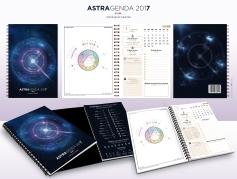 Agenda Astrologique 2017 conçu et réalisé par Angélique Astrologue