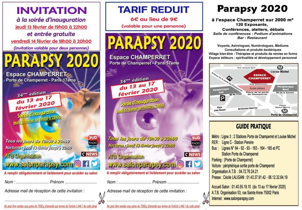 Angélique vous offre votre invitation  et votre tarif réduit pour le Salon Parapsy 2020. Vous la retrouverez sur le stand B12 pour votre consultation de voyance